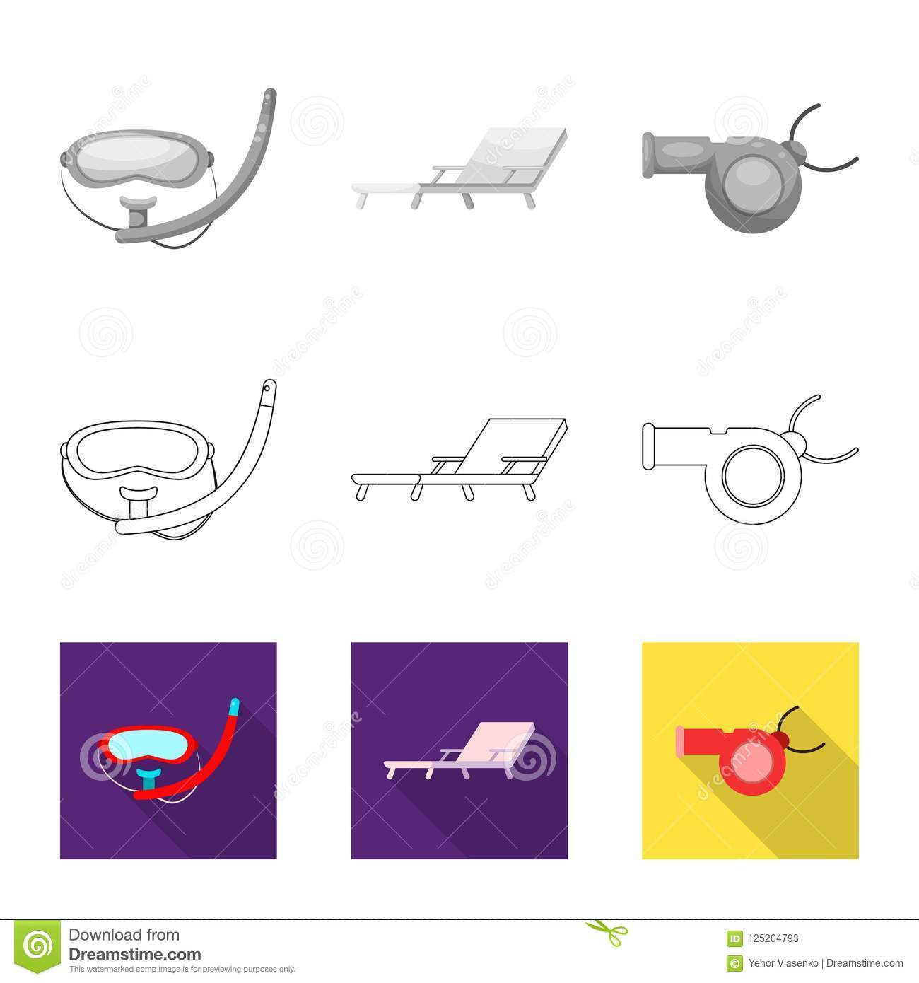 Vector Illustration Of Pool And Swimming Sign Collection Of Pool