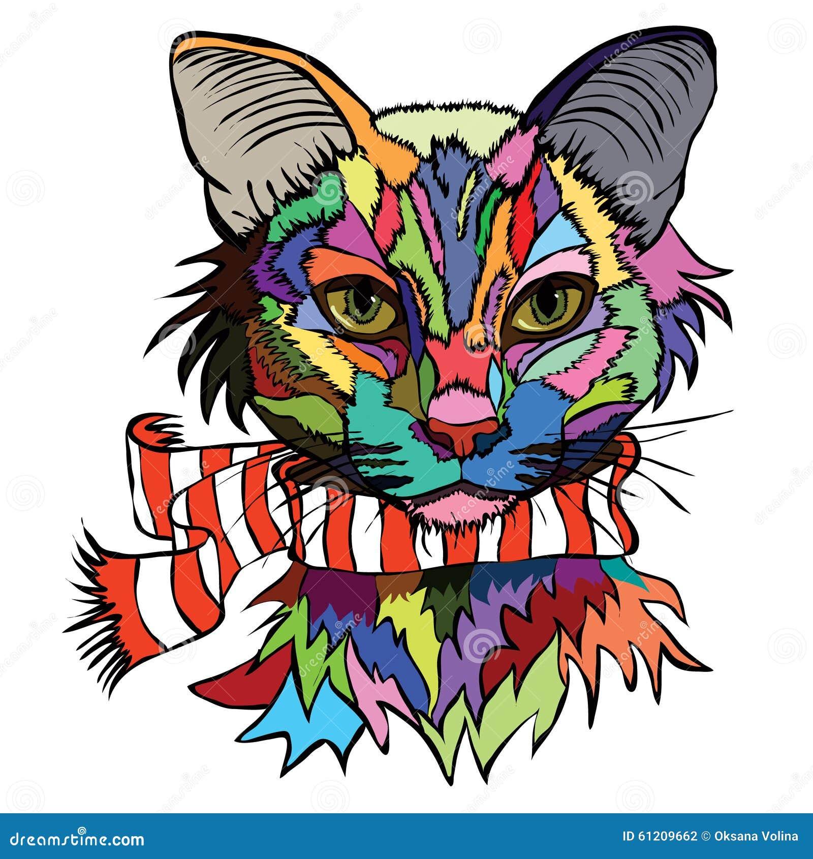 pop art portrait cat stock illustrations 153 pop art portrait cat