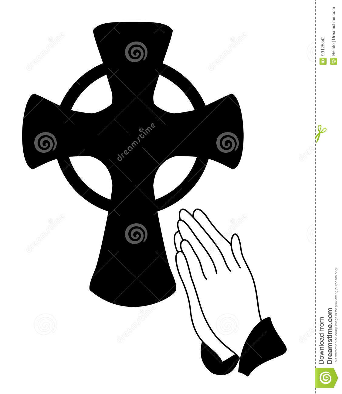 praying hands vector vector illustration cartoondealer catholic church clip art free Catholic Church Art