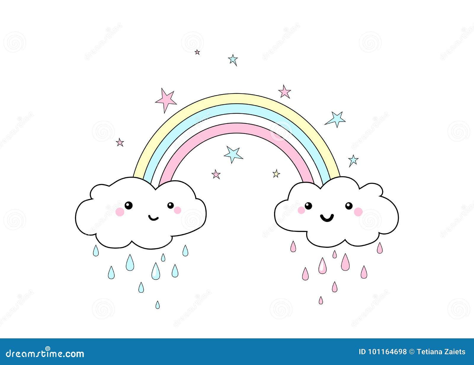 Vector Illustration Of Rainbow Print Stock Vector ...