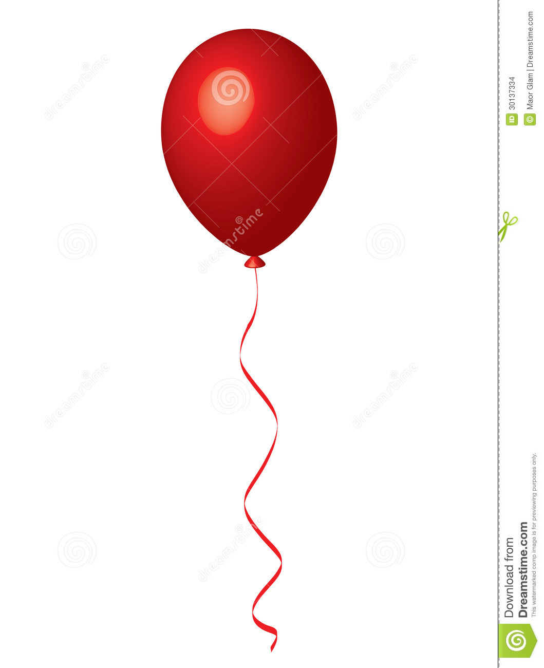 Red Balloon Stock Images Image 30137334