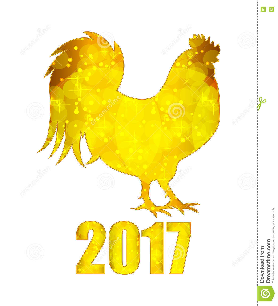 Vector illustration of red fire rooster symbol of 2017 year on vector illustration of red fire rooster symbol of 2017 year on buycottarizona
