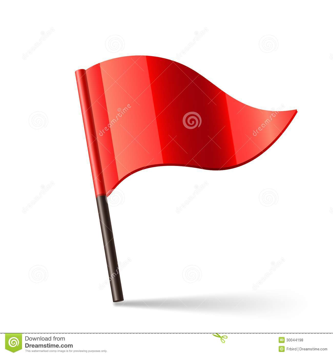 Vector Red Flag Royalty Free Stock Photos - Image: 30044198