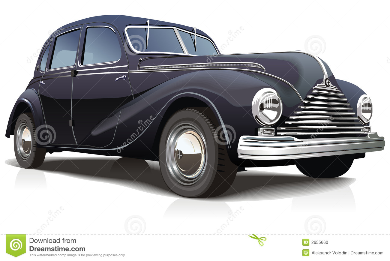 Expensive Car For Sale Or Gift Royalty Free Stock Image: Vector Illustration Retro Car Stock Photo