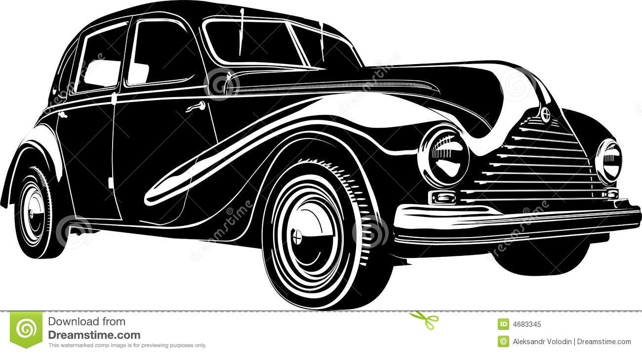 Vector Illustration Retro Car Royalty Free Stock Photo Image