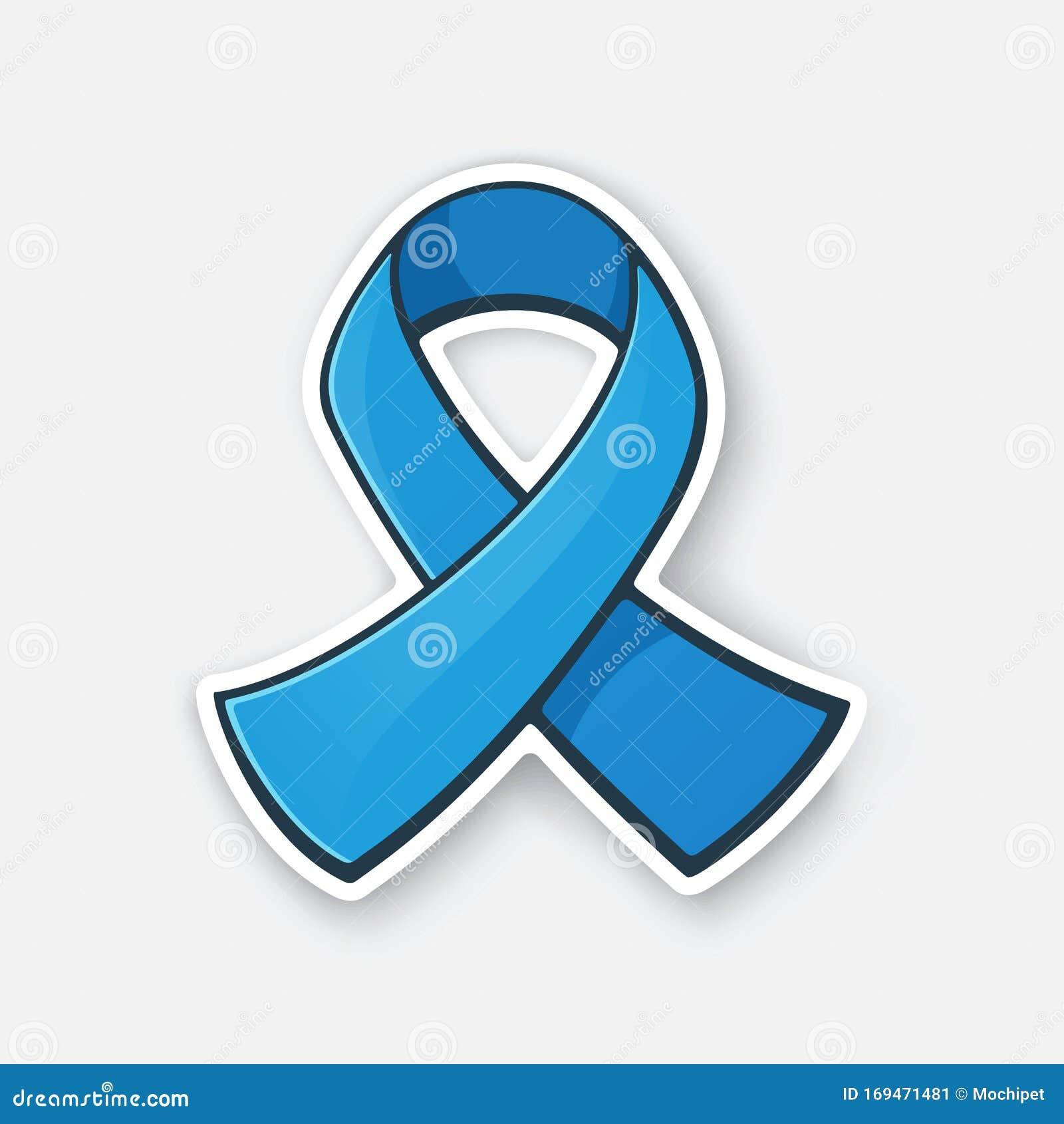 Vector Illustration Ribbon At Blue Color International Symbol Of Colon Cancer Awareness Stock Vector Illustration Of Contour Cancer 169471481