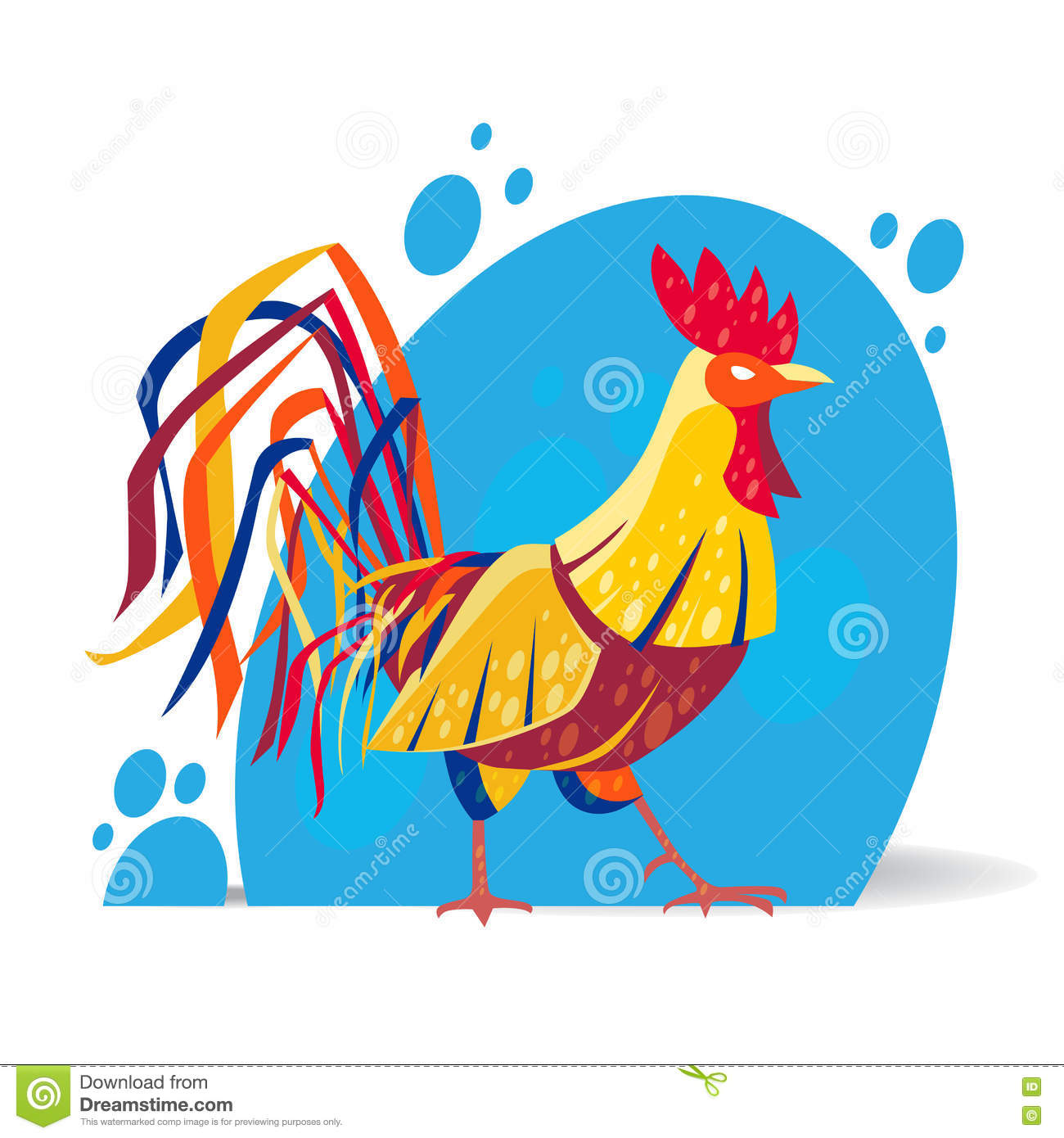 stylized rooster design stock vector image 70749661