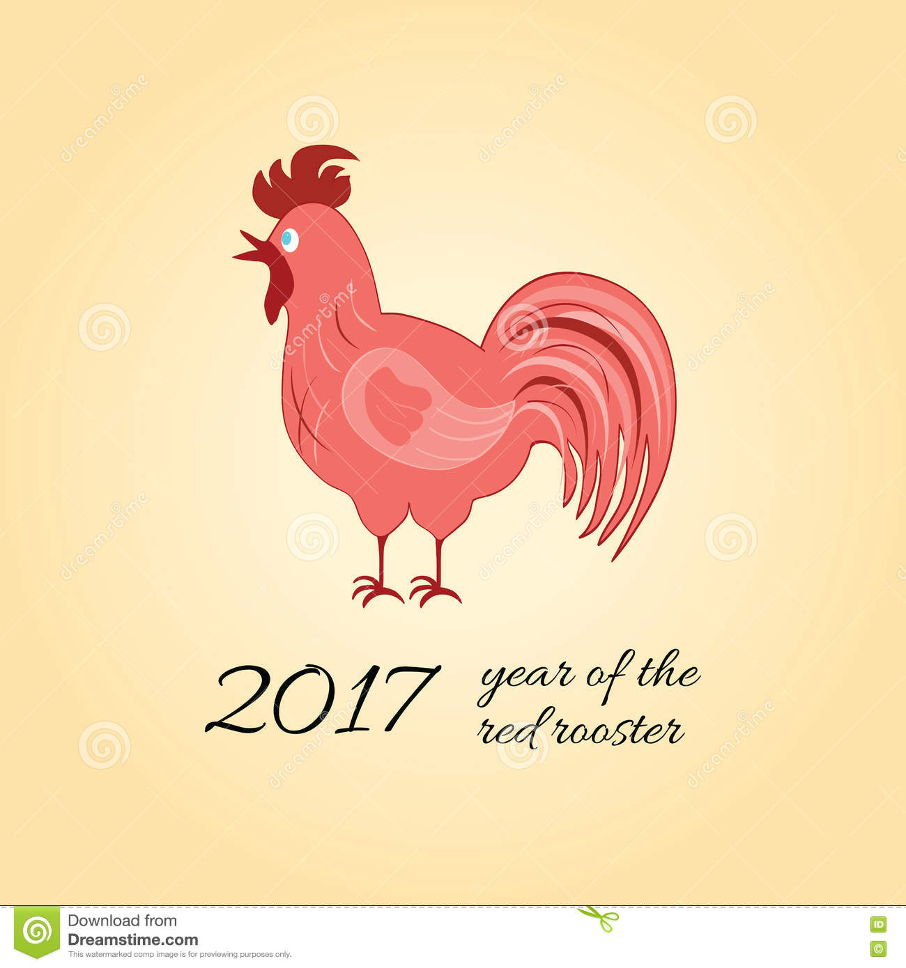 Chinese Calendar Illustration : Vector illustration of rooster symbol chinese calendar
