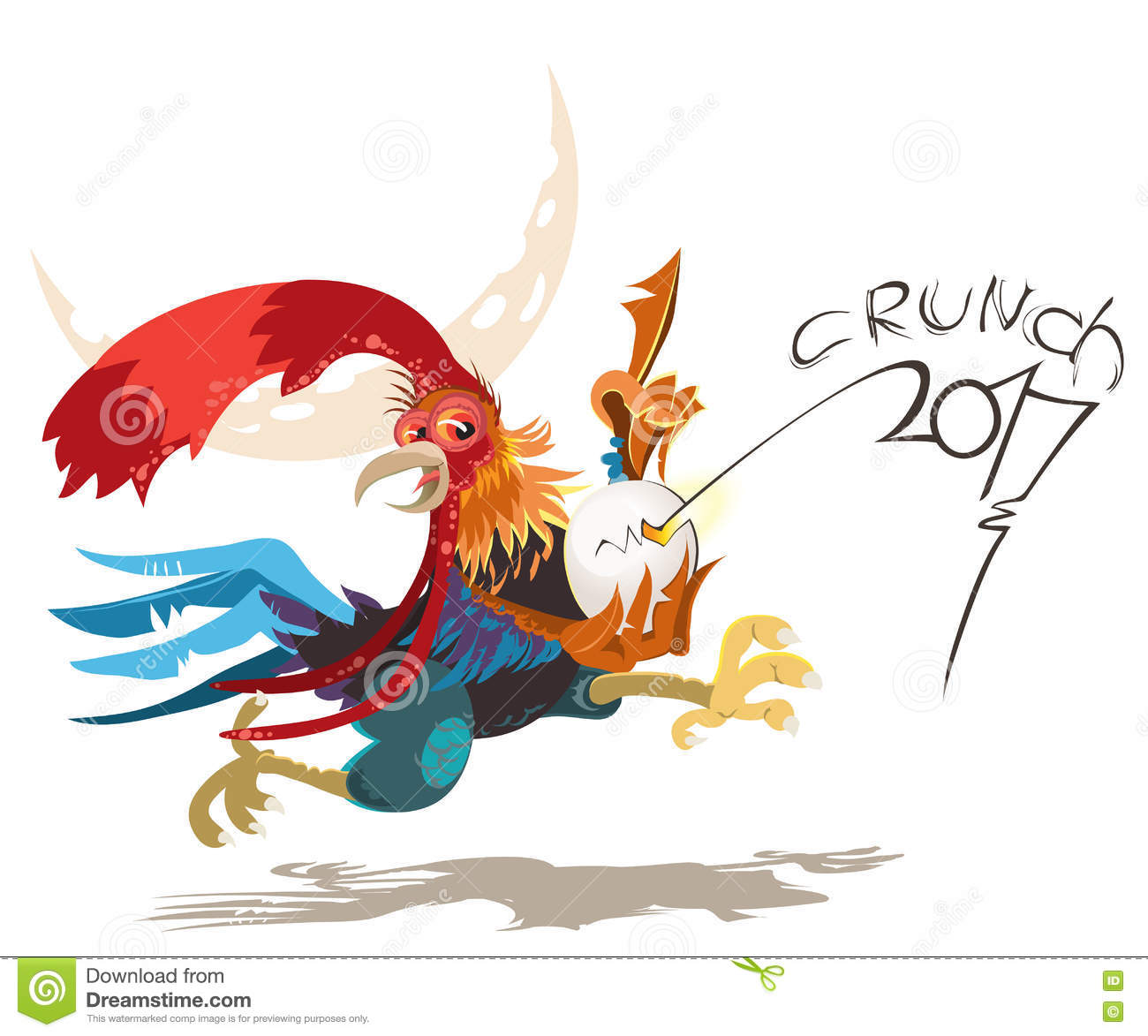 rooster vector silhouette stock photo image 8881990