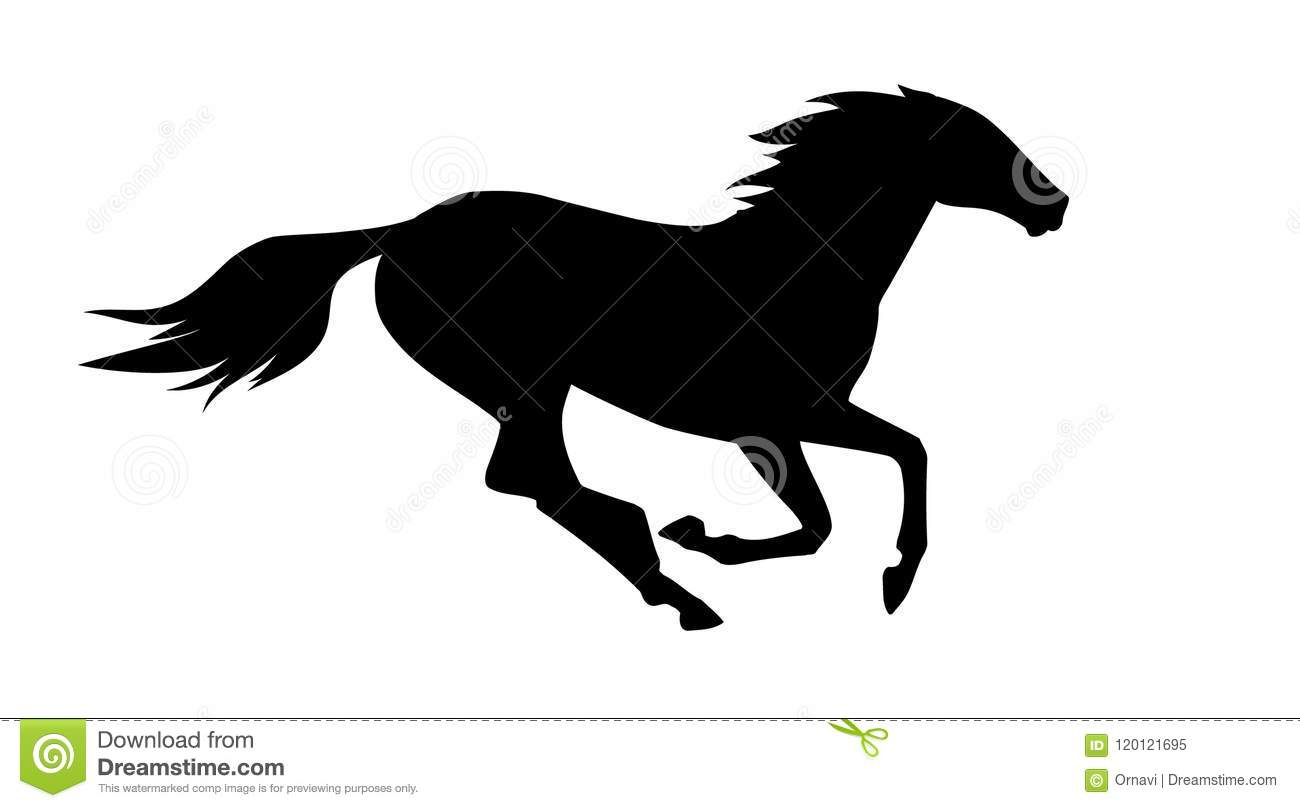 Vector Illustration Of Running Horse Eps File Stock Vector Illustration Of Sketch Drawing 120121695