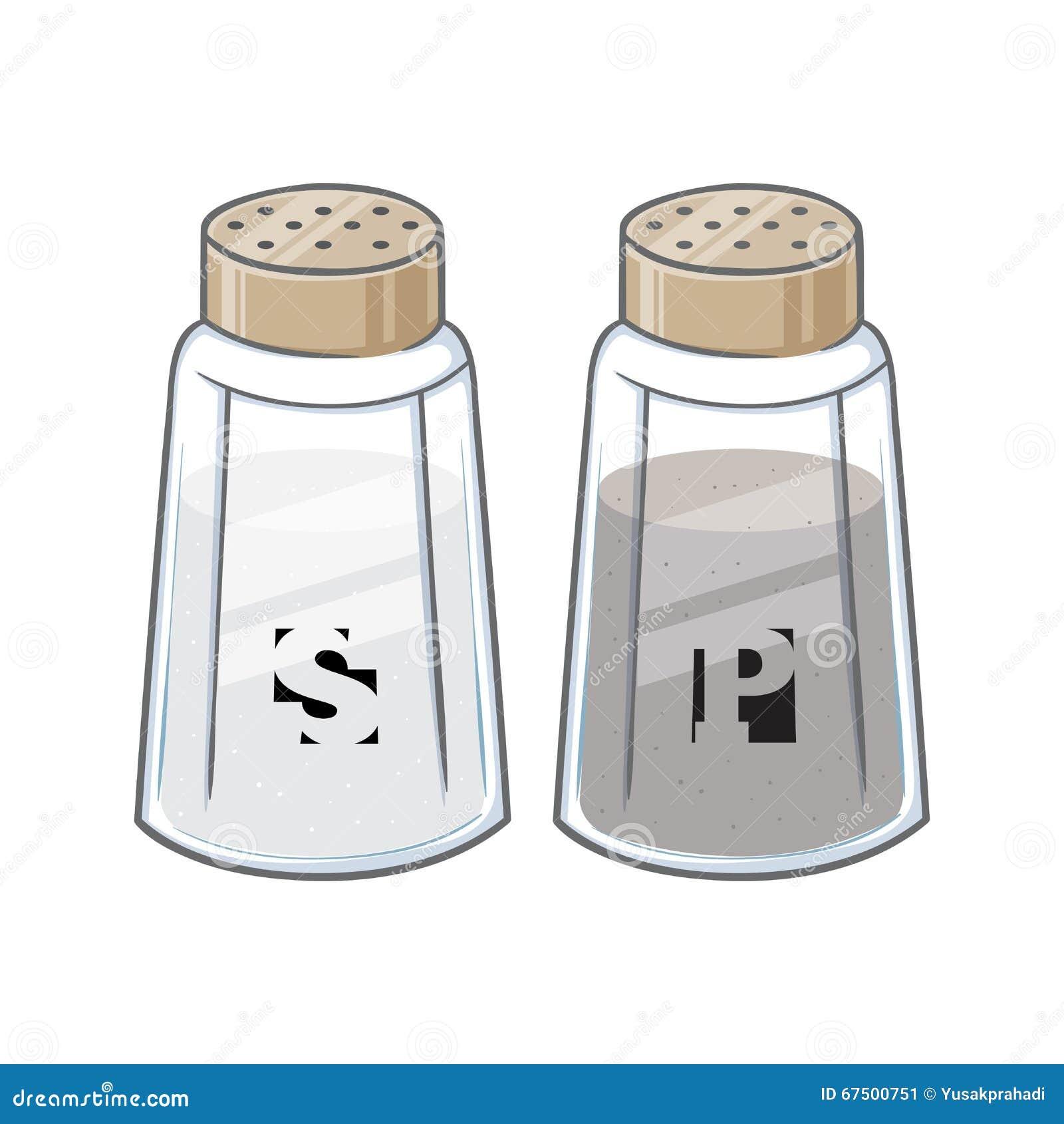 Vector Illustration Of Salt And Pepper Bottle Stock Vector