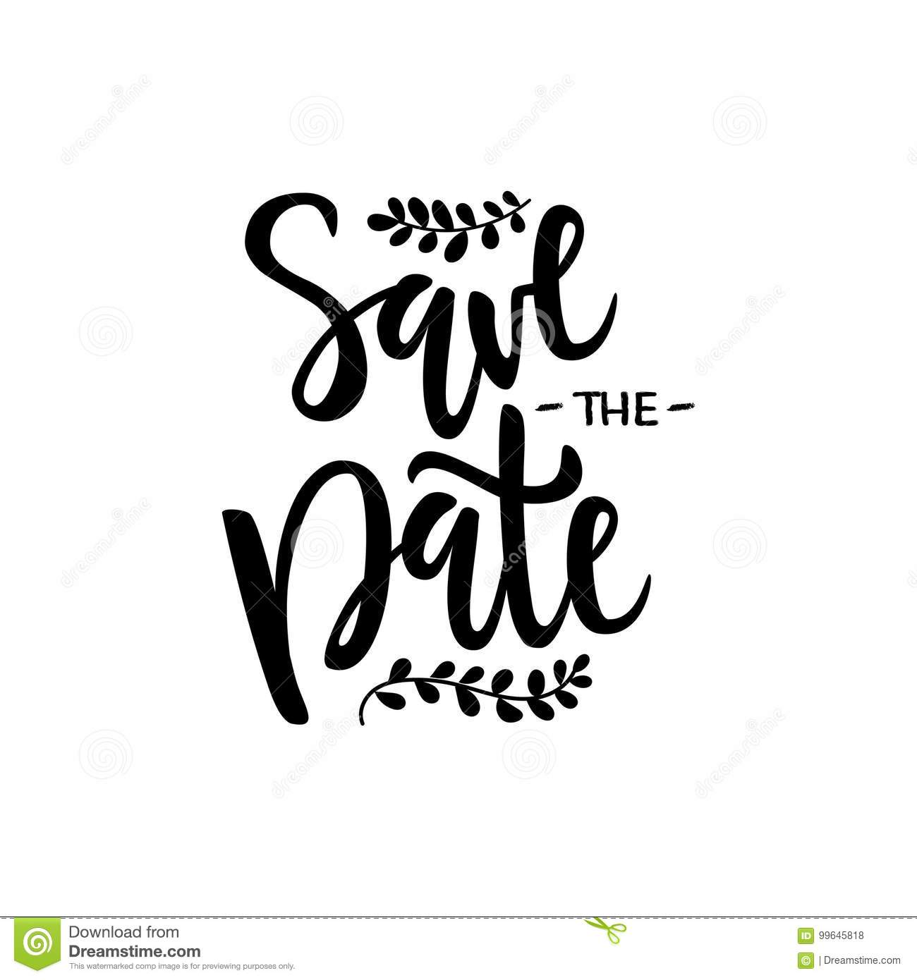 vector illustration of save the date text stock illustration