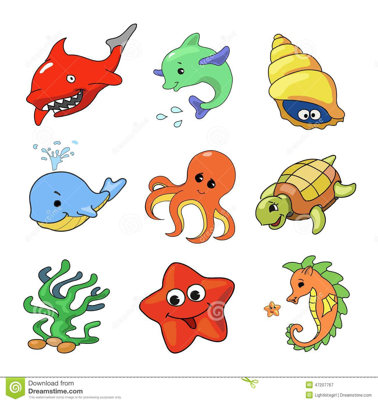vector illustration of sea animals collection stock vector illustration of artwork  fish 47207767 clown fish clip art printable free clown fish clip art black and white