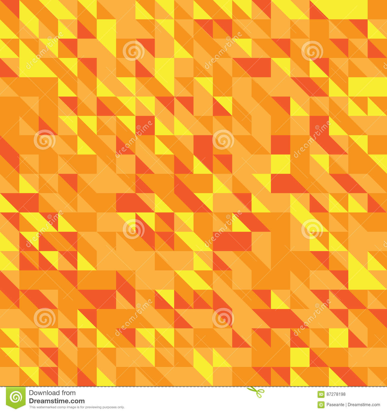 Different Shades Of Yellow vector illustration of a seamless pattern of simple triangles in