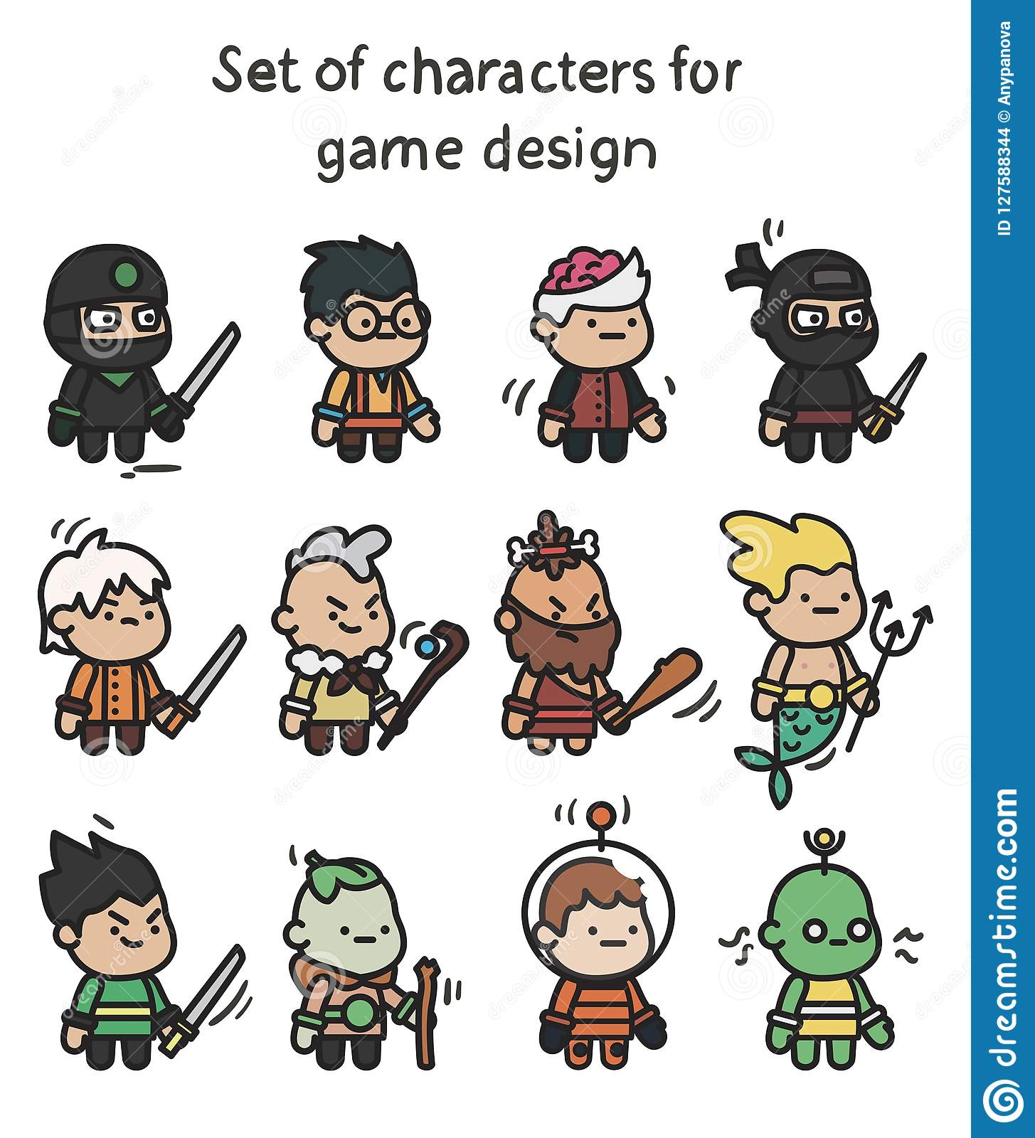 A Set Of Characters Ready For Animation  Character For