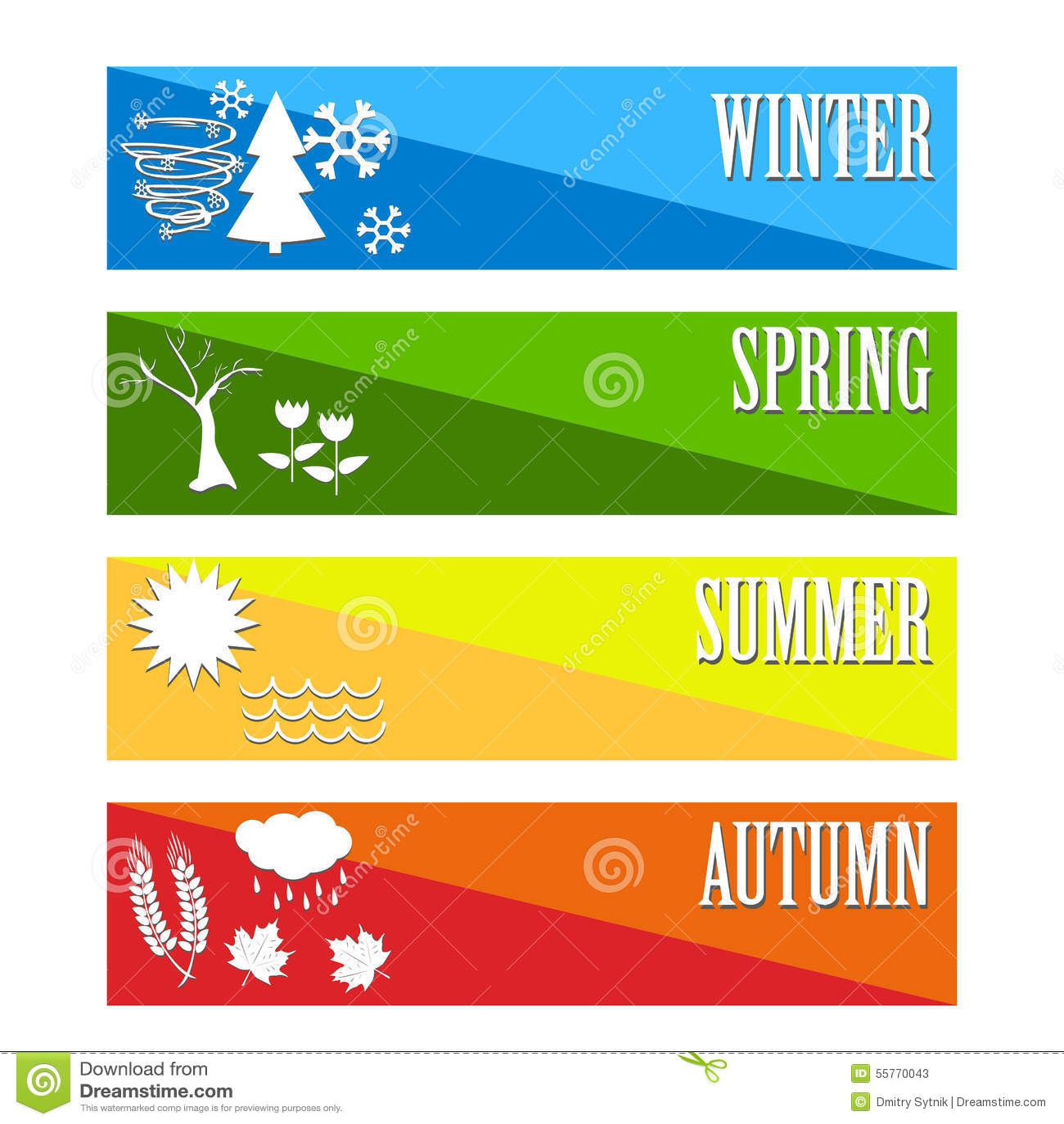 Vector illustration set four seasons symbol weather stock for 4 seasons decoration
