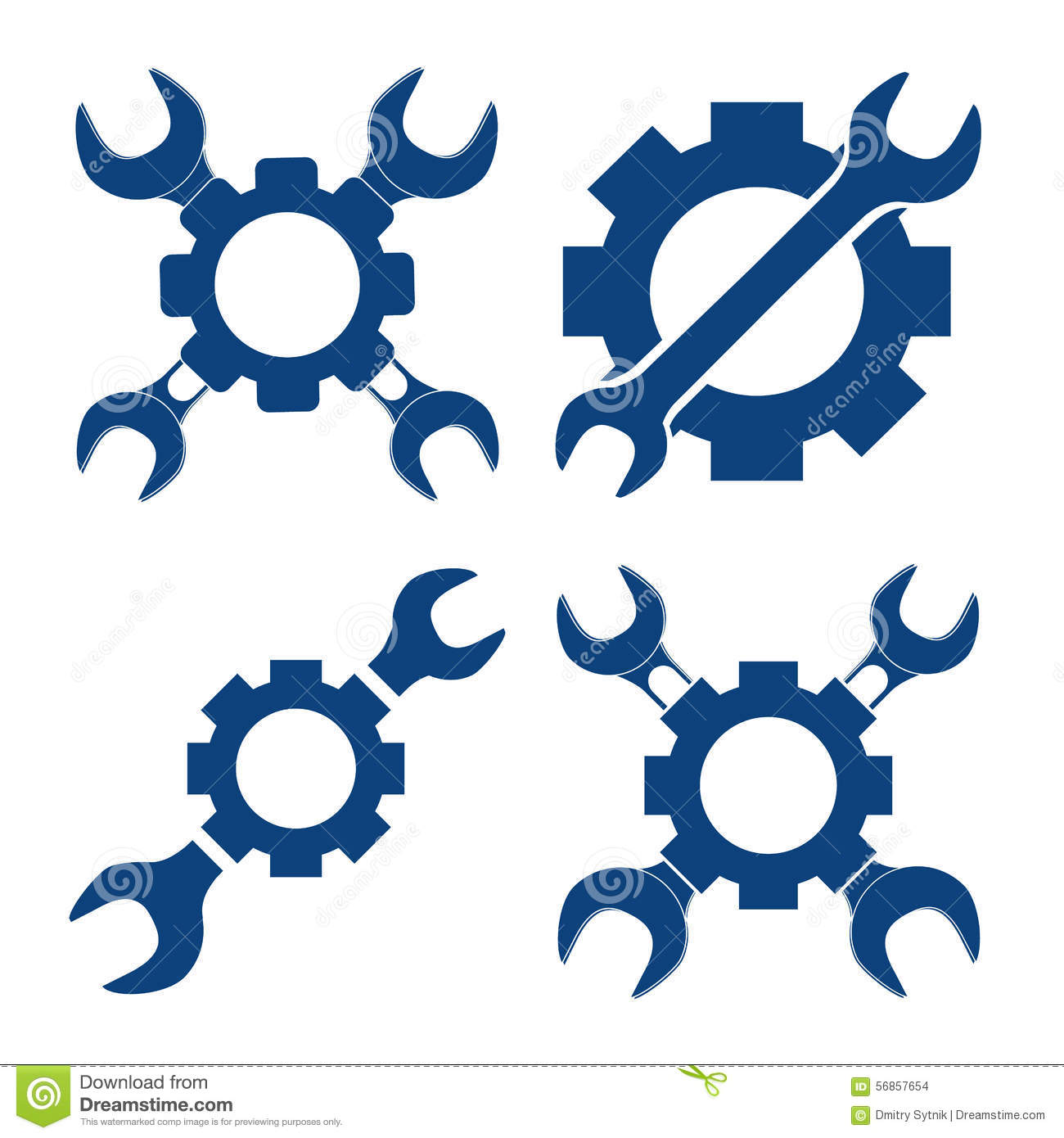 vector illustration set mechanical with cross wrench and pinio stock rh dreamstime com mechanical logic toy mechanical logic puzzles