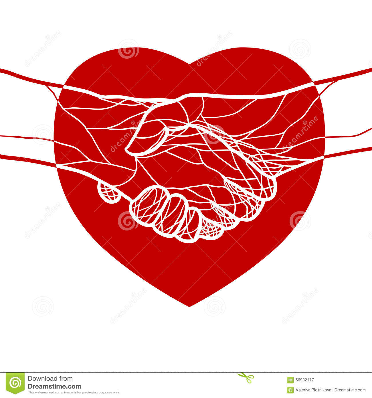 the gallery for gt shaking hands heart vector