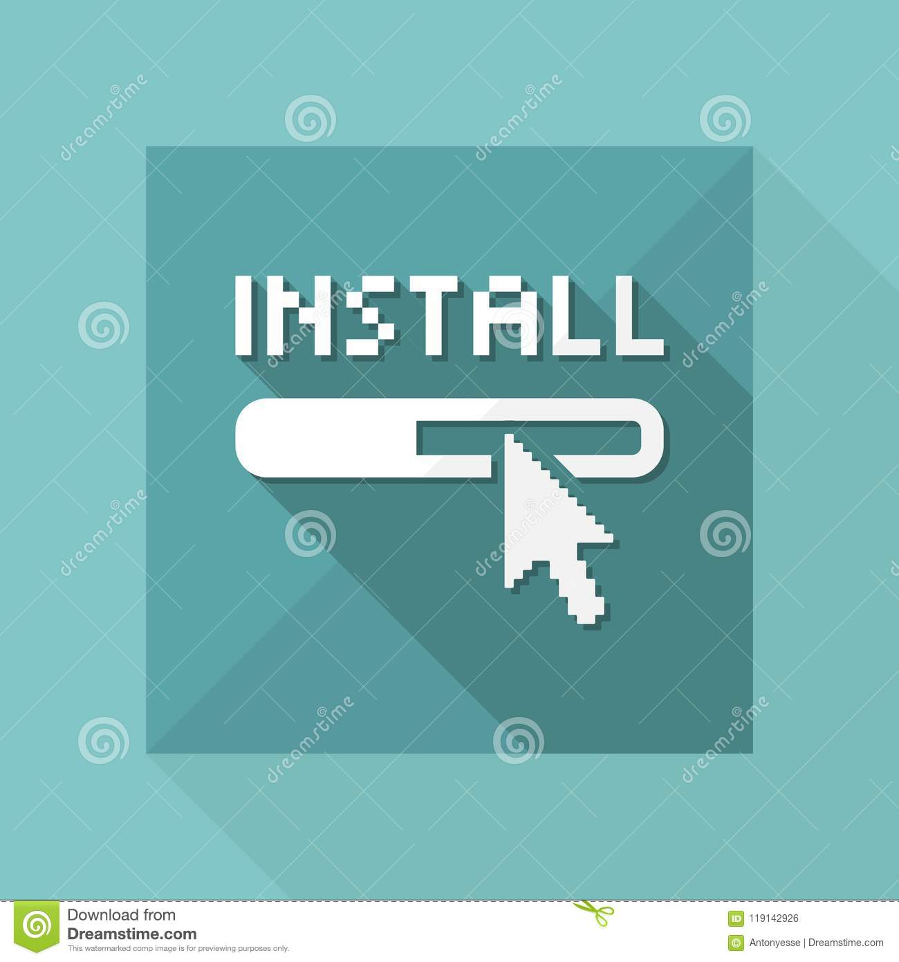 Vector Illustration Of Single Isolated Install Icon Stock