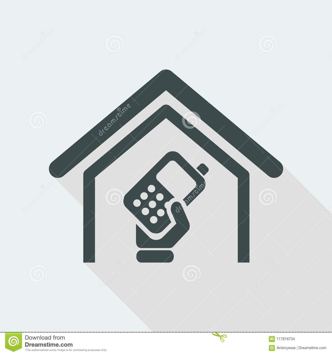 Vector Illustration Of Single Isolated Phone Icon Stock Vector