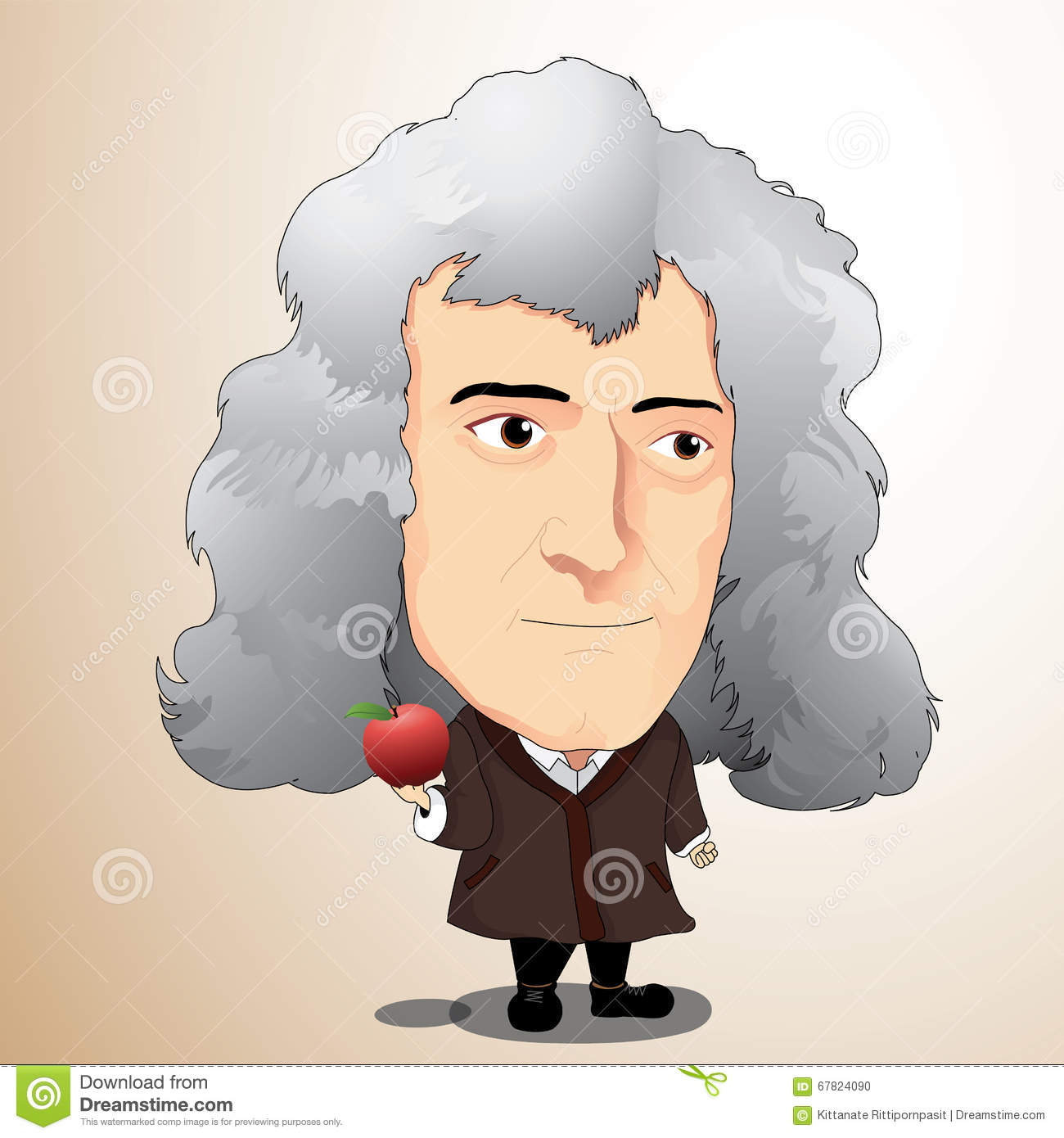 Newton's Apple Stock Illustrations – 76 Newton's Apple Stock ...