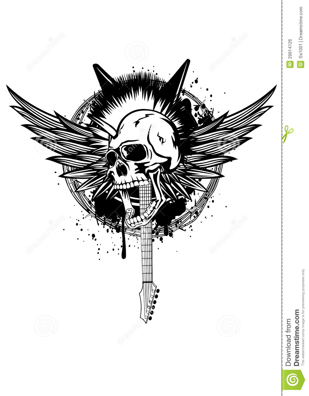 head punk with wings stock vector  illustration of design