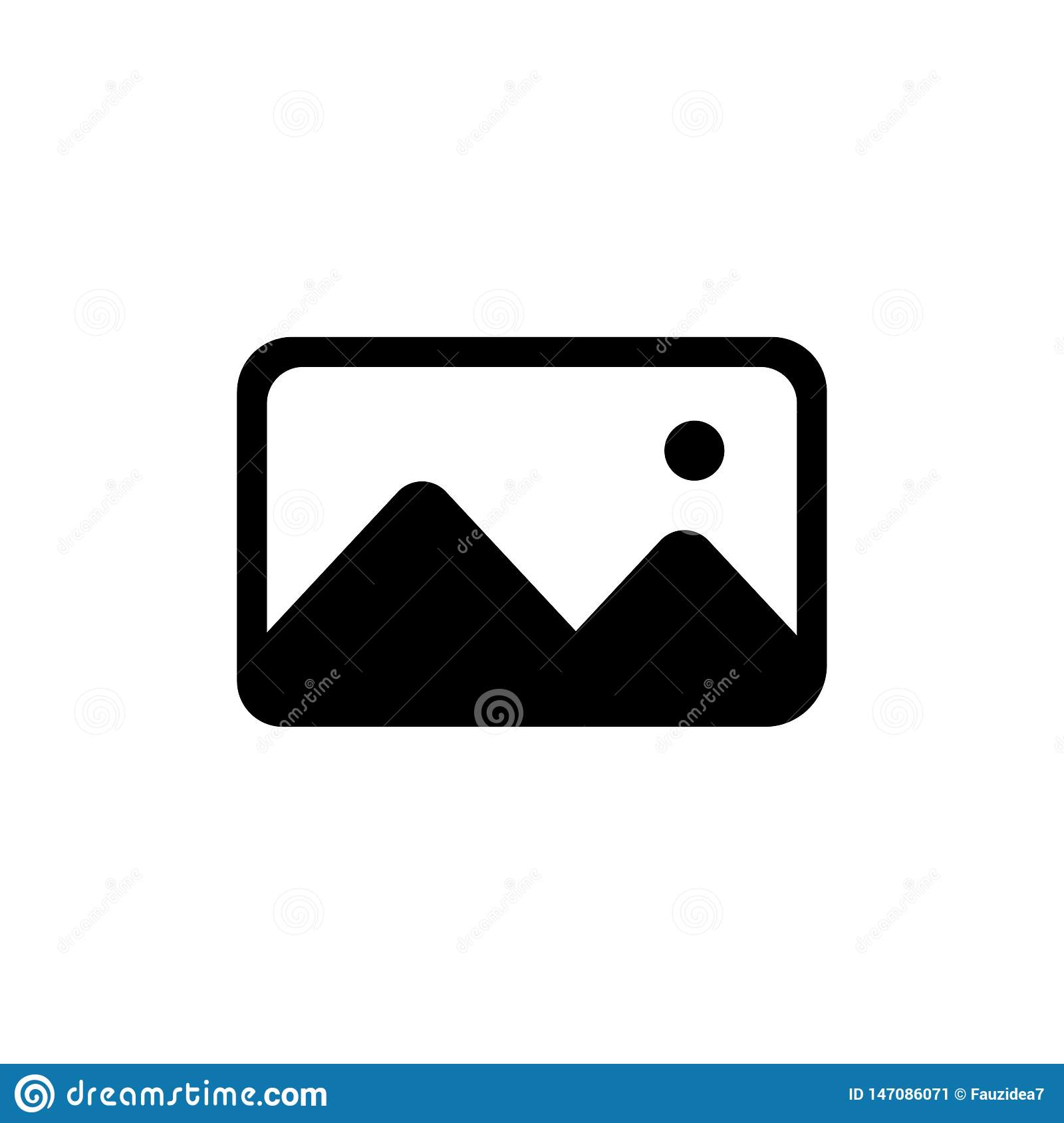 Vector illustration of solid image icon. Photo icon