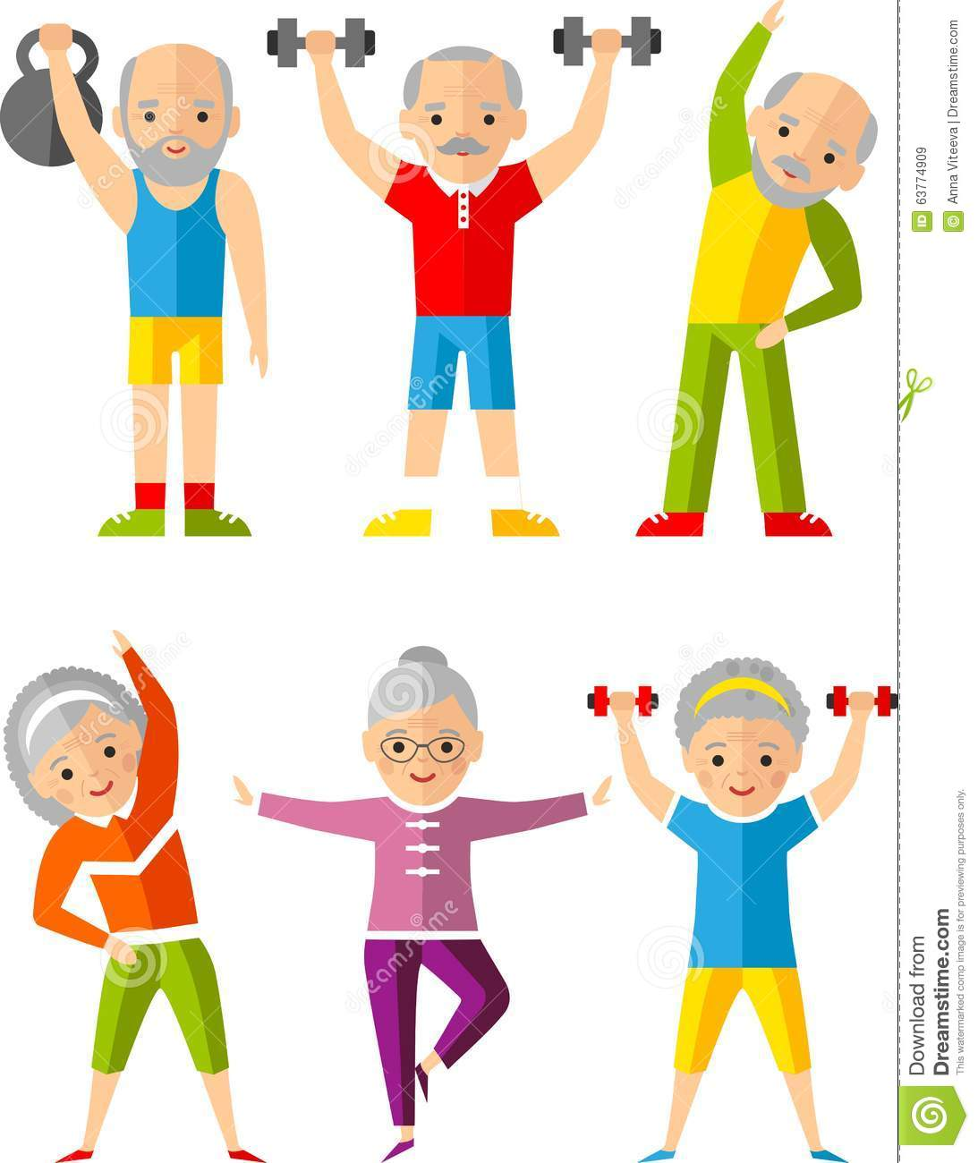 vector illustration sport healthy and leisure old people grandfather clipart free line drawing grandmother clipart india