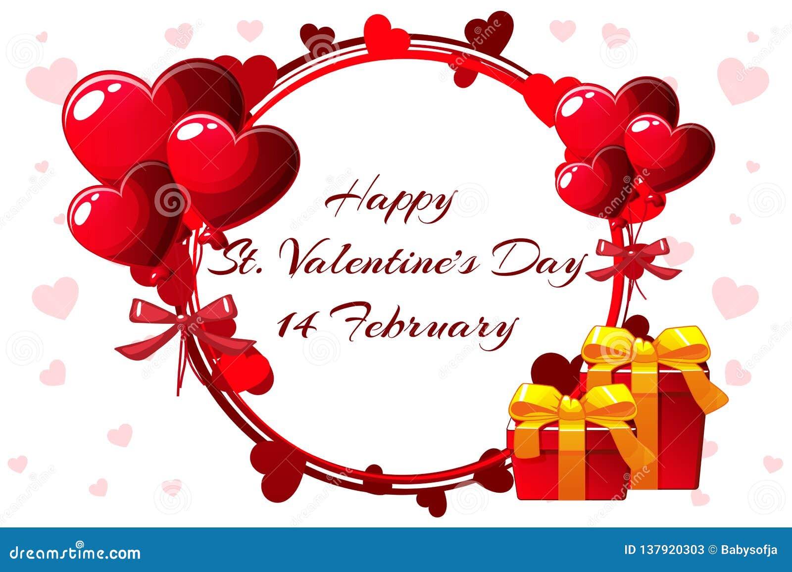 Romantic Wreath For Saint Valentine Day Wedding Invitations Hen