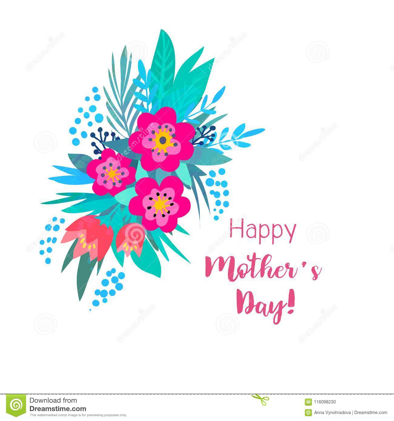 Vector Illustration Summer Flowers Bright May Be Used For Birthday Cards Happy March 8 Mother S Day