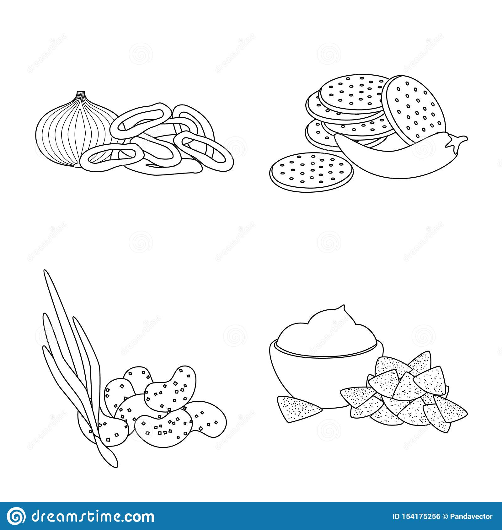 Vector design of taste and crunchy icon. Collection of taste and cooking vector icon for stock.