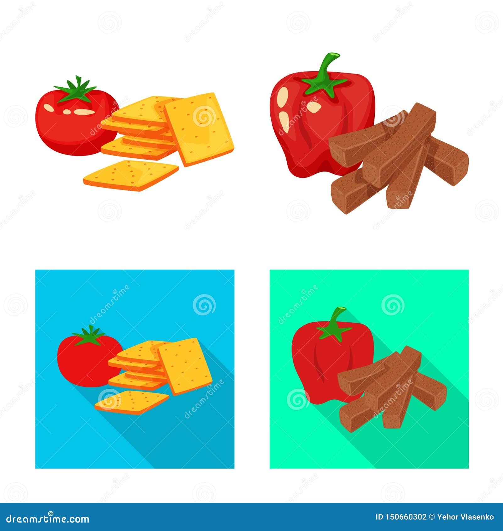 Vector illustration of taste and seasonin icon. Collection of taste and organic stock vector illustration.