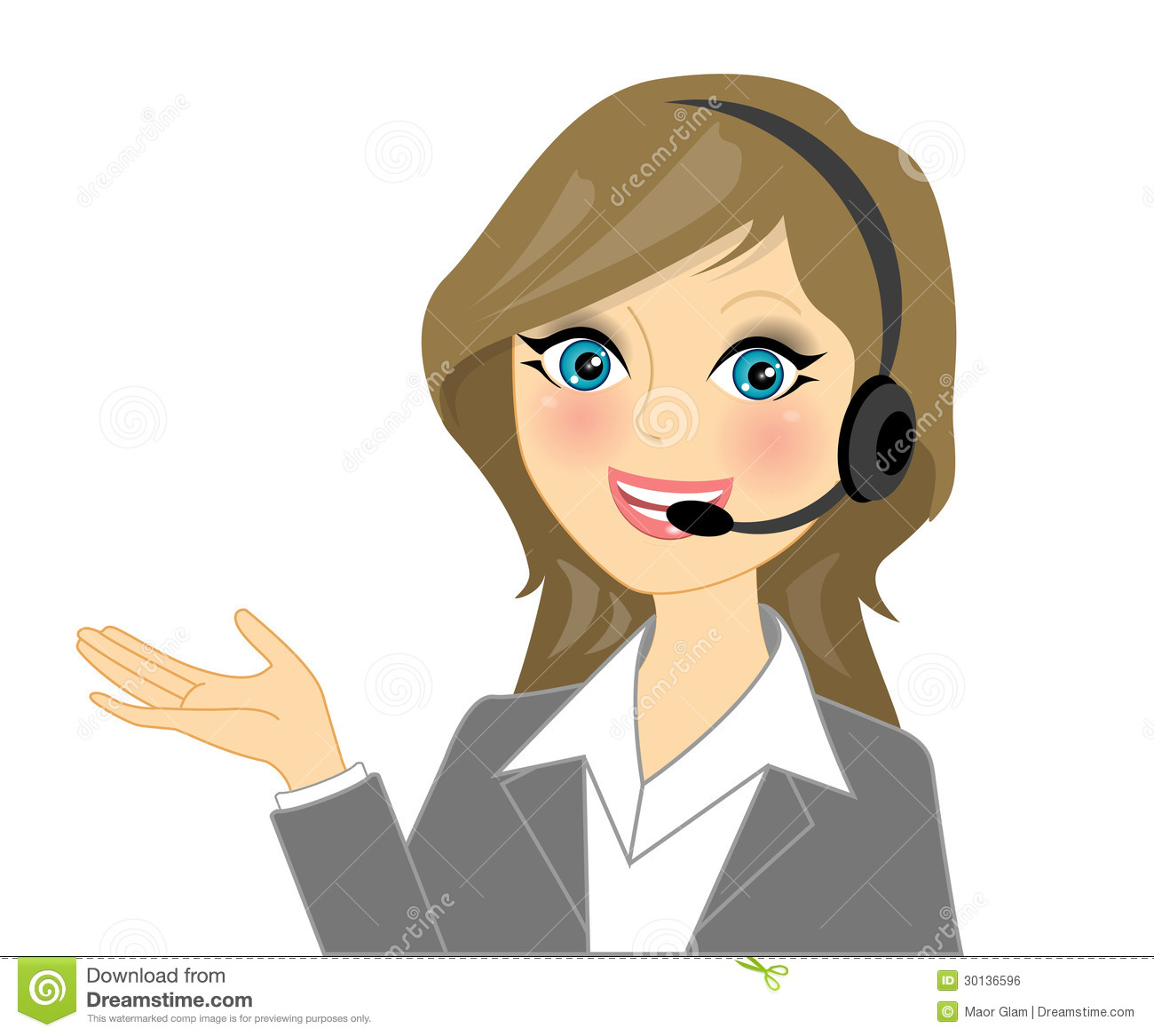 Vector Telephone Operator Royalty Free Stock Image - Image: 30136596