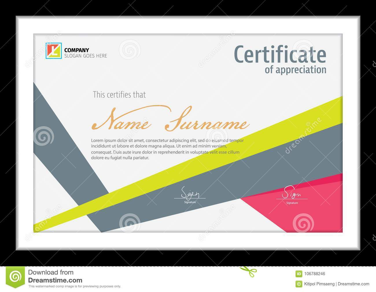 Vector template for certificate,clean colorful diploma
