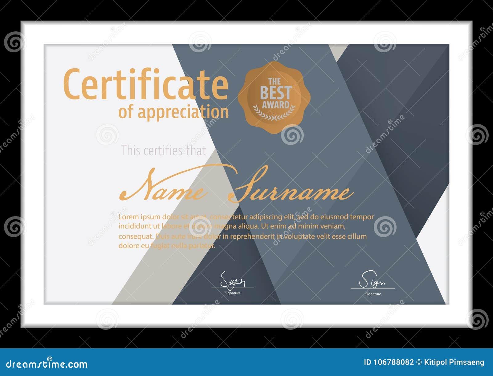 Vector Template For Certificatemodern Diploma Stock Vector