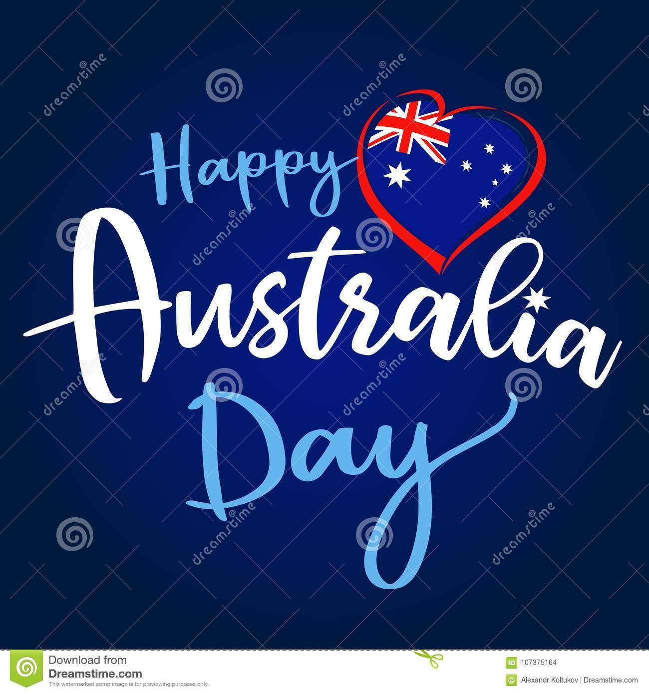 Happy australia day lettering and flag in heart greeting card stock download happy australia day lettering and flag in heart greeting card stock vector illustration of m4hsunfo