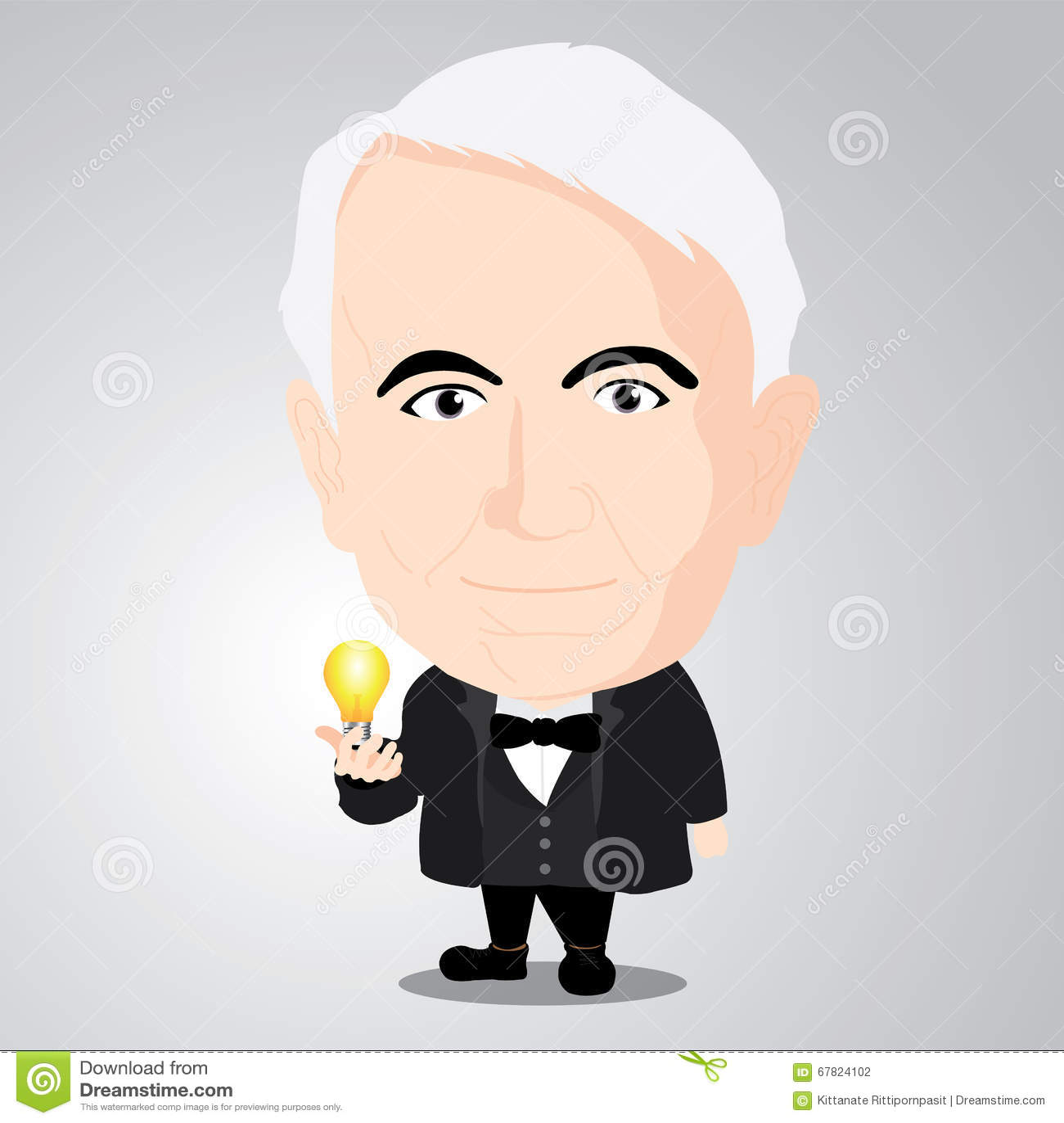Vector illustration - Thomas Alva Edison