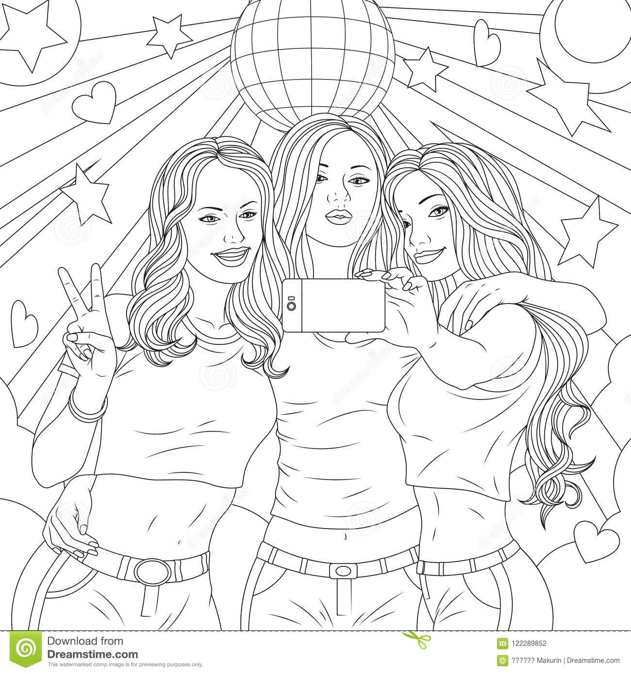 Pretty girl coloring pages - timeless-miracle.com   1390x1300