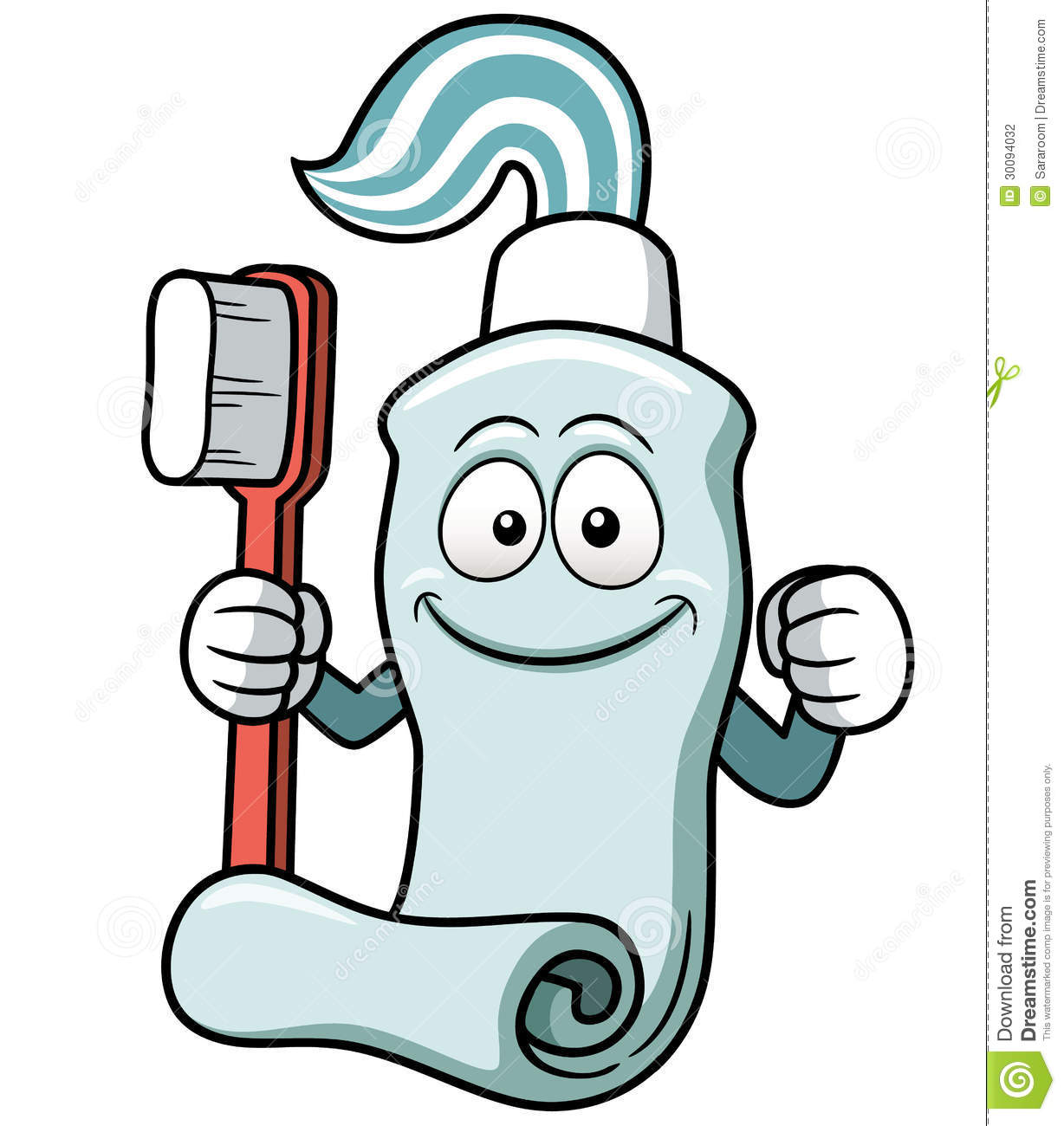 Toothbrush And Toothpaste Cartoon Stock Photography Image 30094032