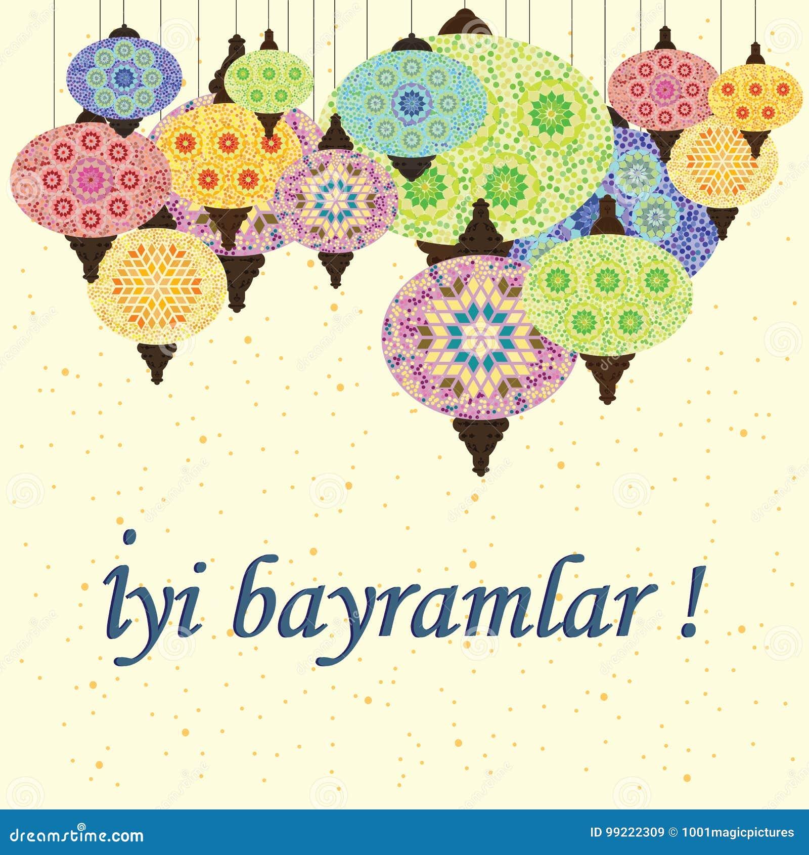 Turkish Lamps Bayramlar Stock Vector Illustration Of Lantern 99222309