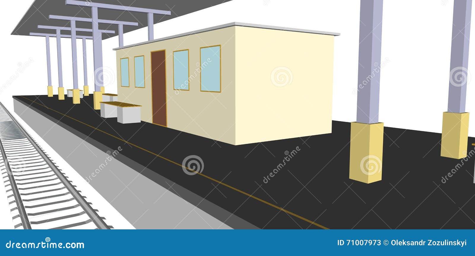 train platform clipart - photo #30