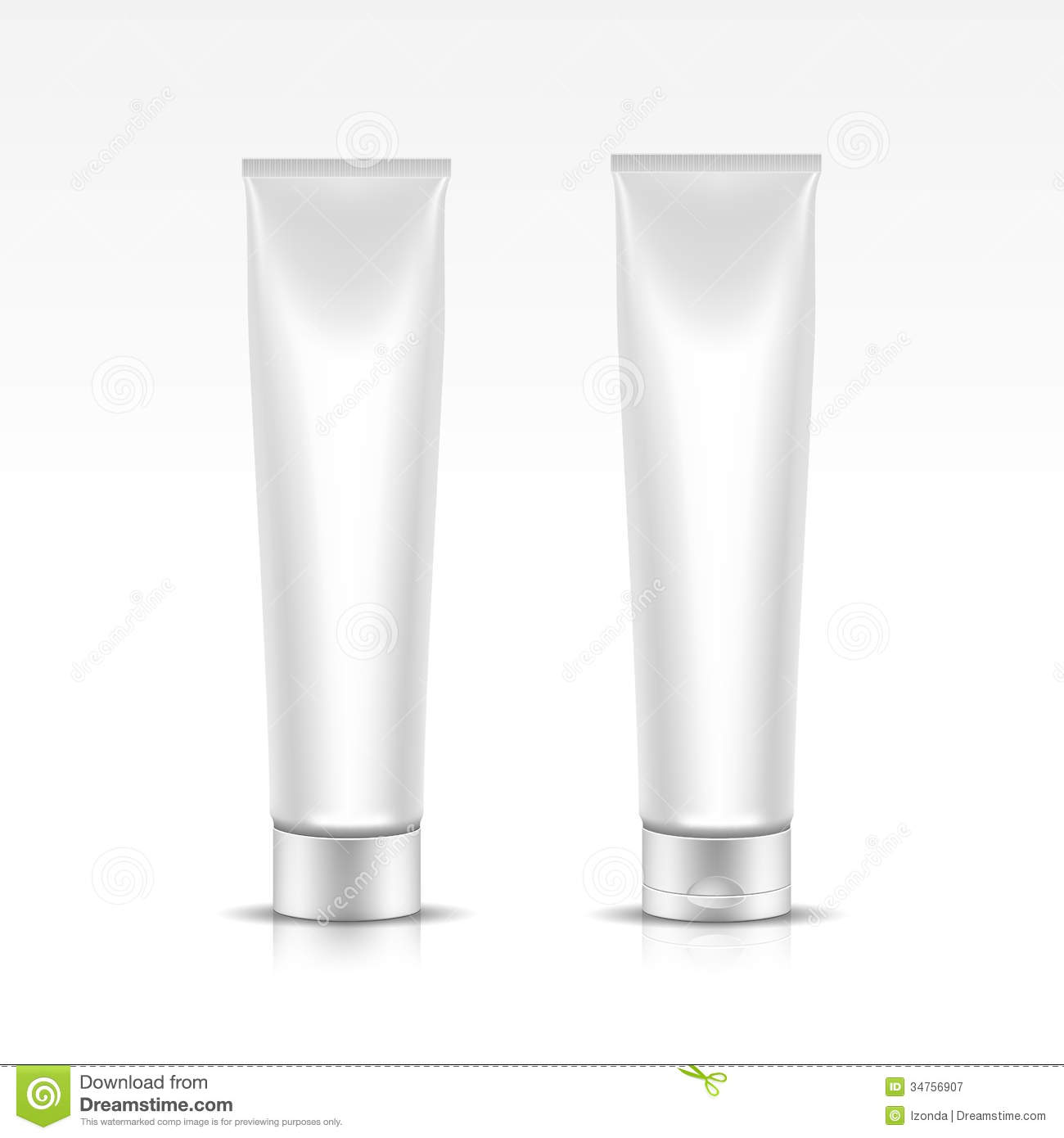 Vector Illustration Of Tube For Cosmetic Package Royalty