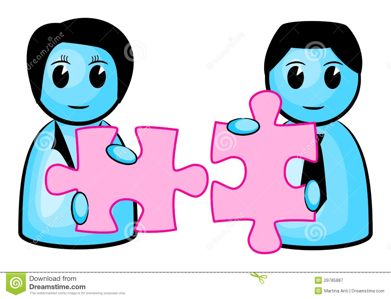 Two Matching Puzzle Pieces Royalty Free Stock Photography - Image ...