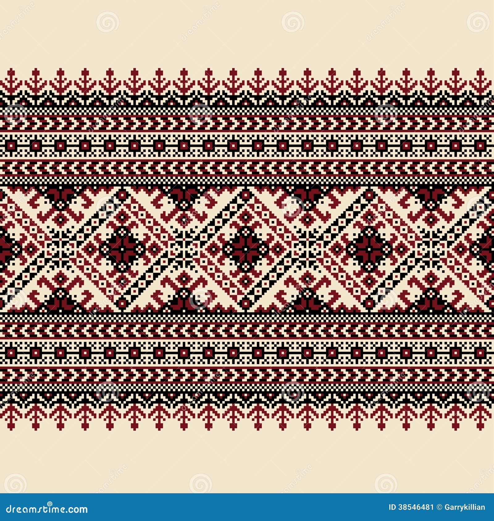 Vector illustration of ukrainian folk seamless pat