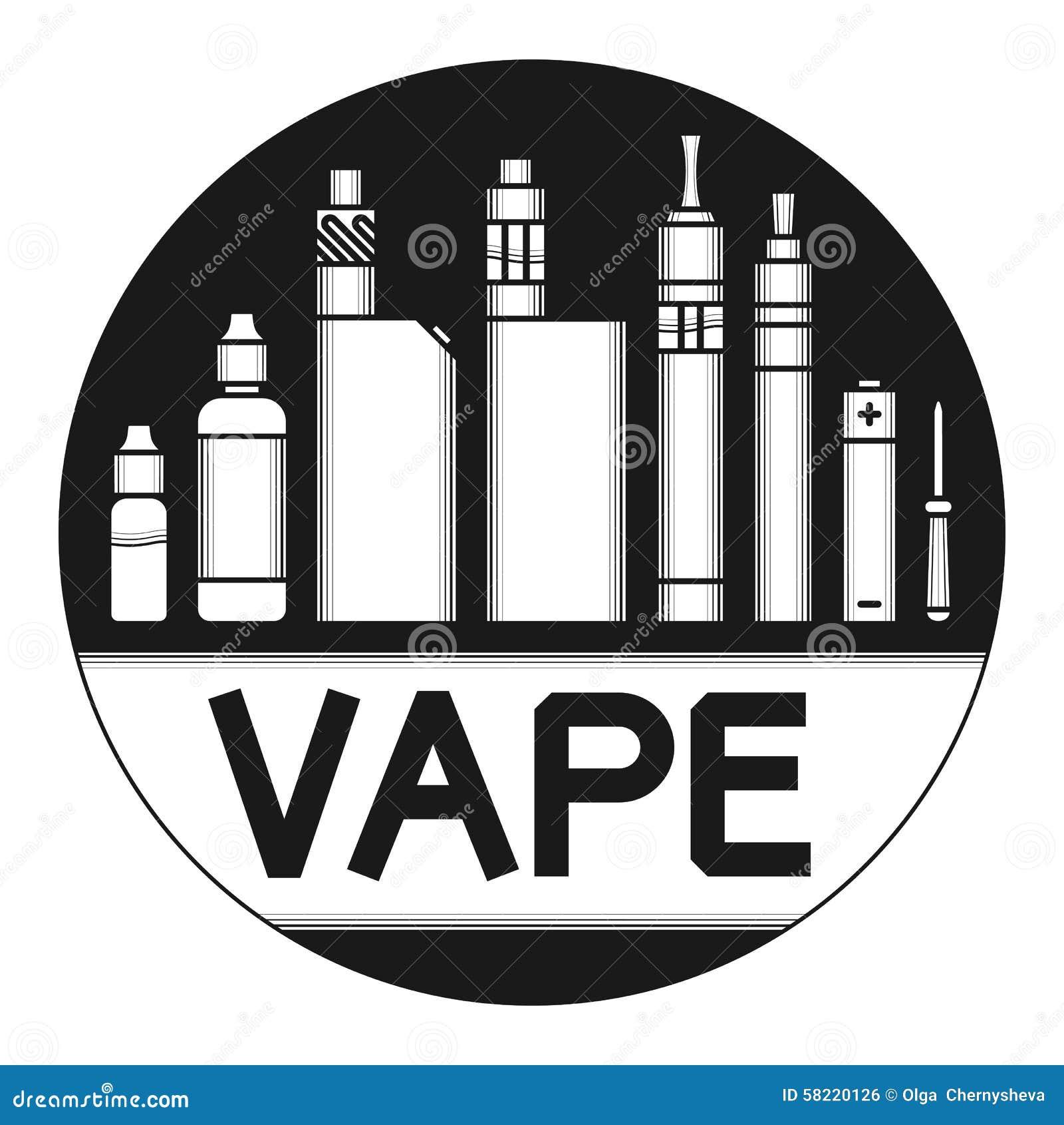 hand using e cigarette e cig vape and releasing a smoke stock photo