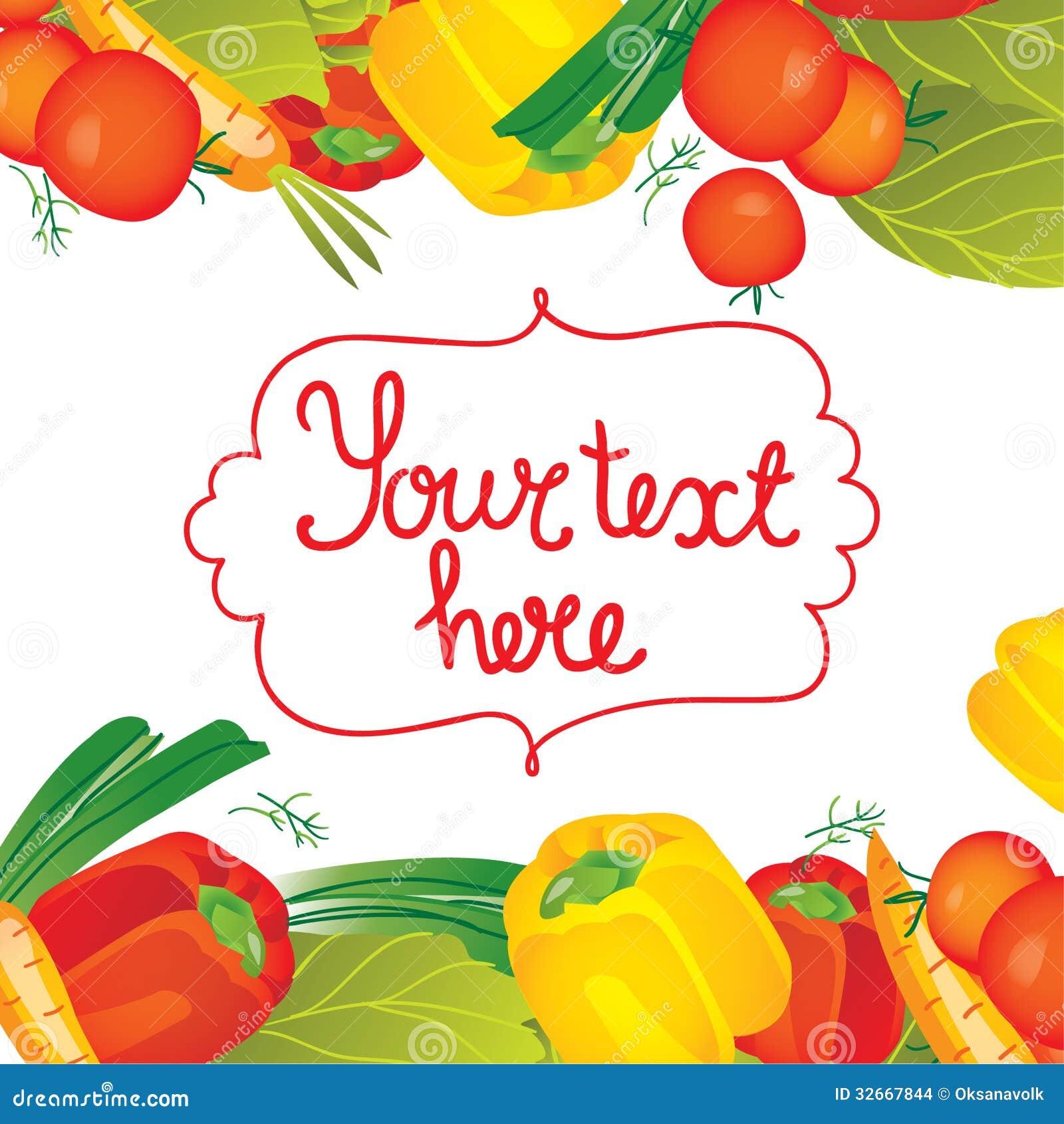 Vegetable garden border clipart vegetable garden border - Vector Illustration Vegetables Vegetable Garden Border Clipart