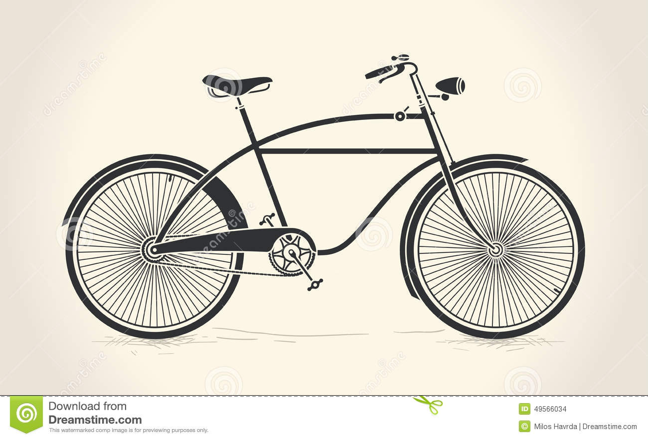 Vector Illustration Of Vintage Bicycle Stock Vector ...