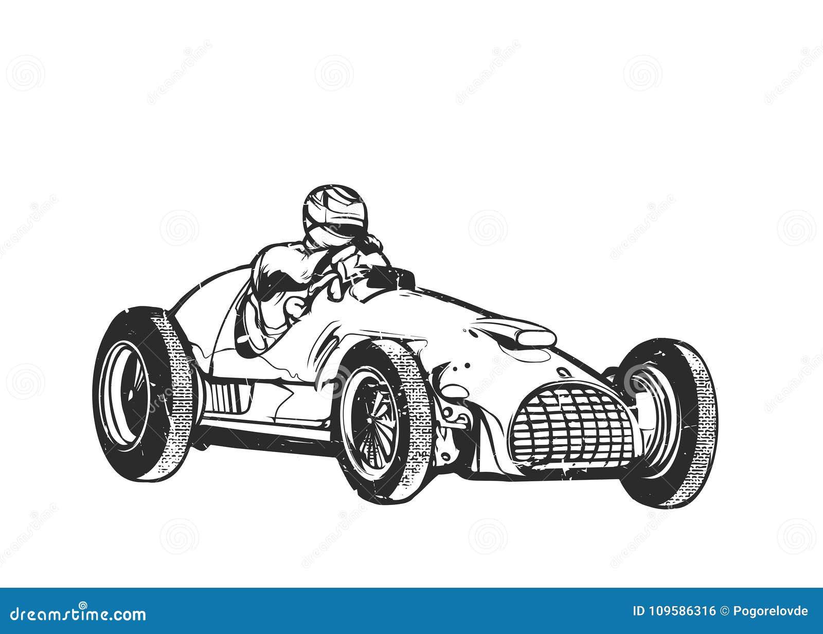 Vintage Racing Car Stock Illustrations 3 858 Vintage Racing Car Stock Illustrations Vectors Clipart Dreamstime