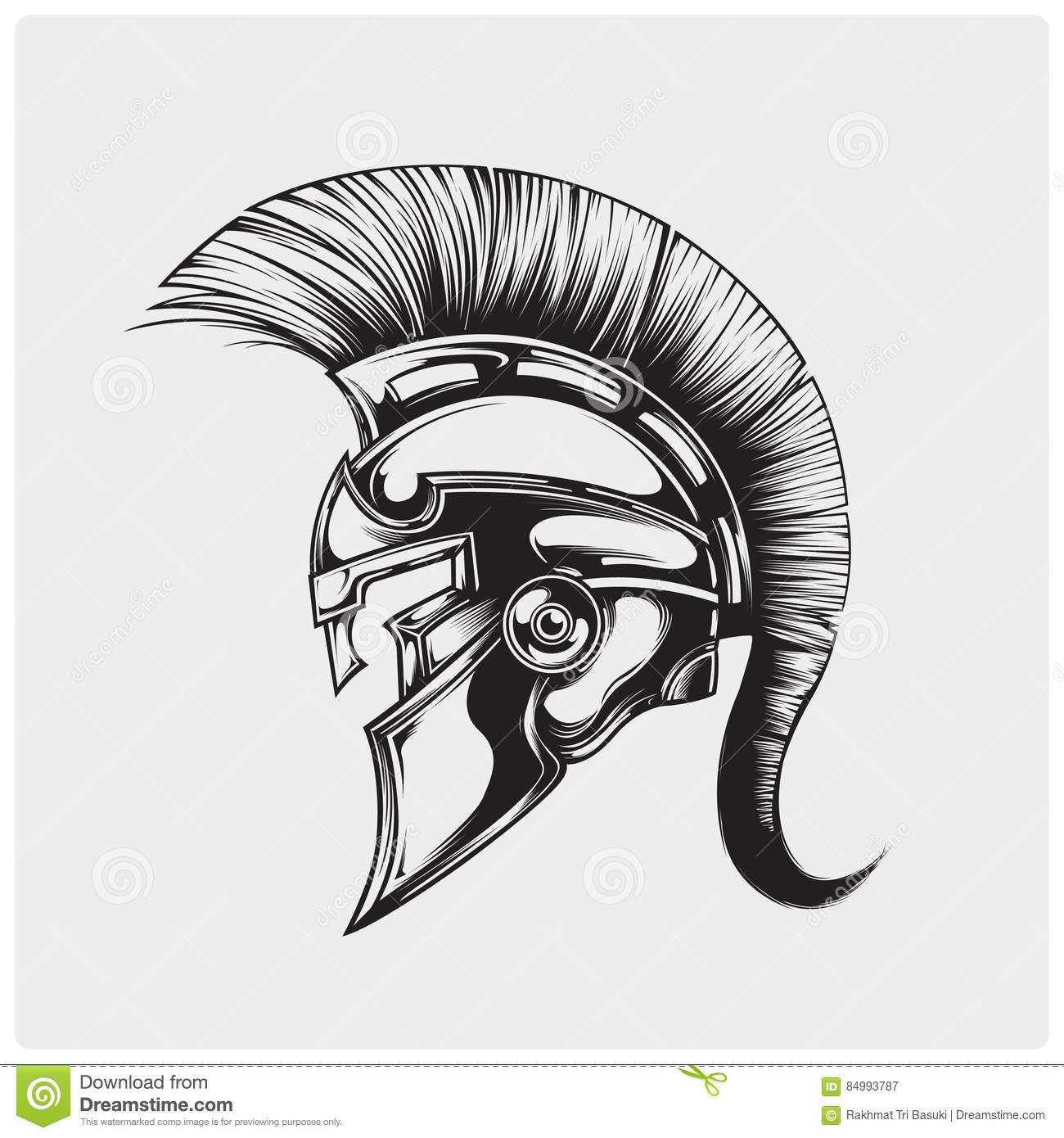 Vector illustration of warrior spartan stock vector for Spartan 6 architecture