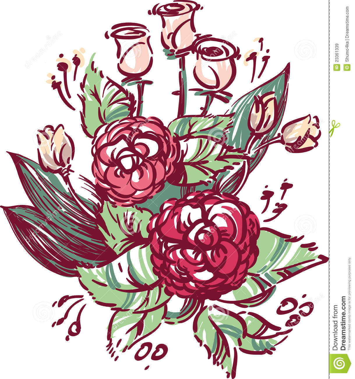 Vector Illustration Wedding Flowers Royalty Free Stock Images